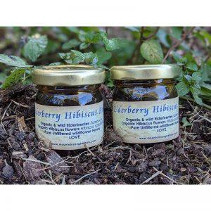 Elderberry-Hibiscus Honey - Mountainsong Herbals